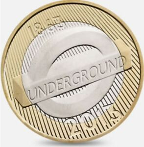 Two-Pound-Coin-London-Underground-Roundel-2-Very-good-condition