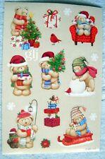 CHRISTMAS HOLIDAY BEARS - AGC SCRAPBOOKING STICKERS NWOP