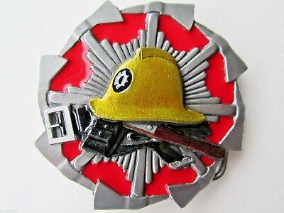 100% Wahr Fireman Belt Buckle Firefighter Fire Brigade. Zahlreich In Vielfalt