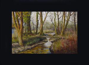 Oil-on-Canvas-Landscape-Foret-Signed-Baquart-92-x-60-CM
