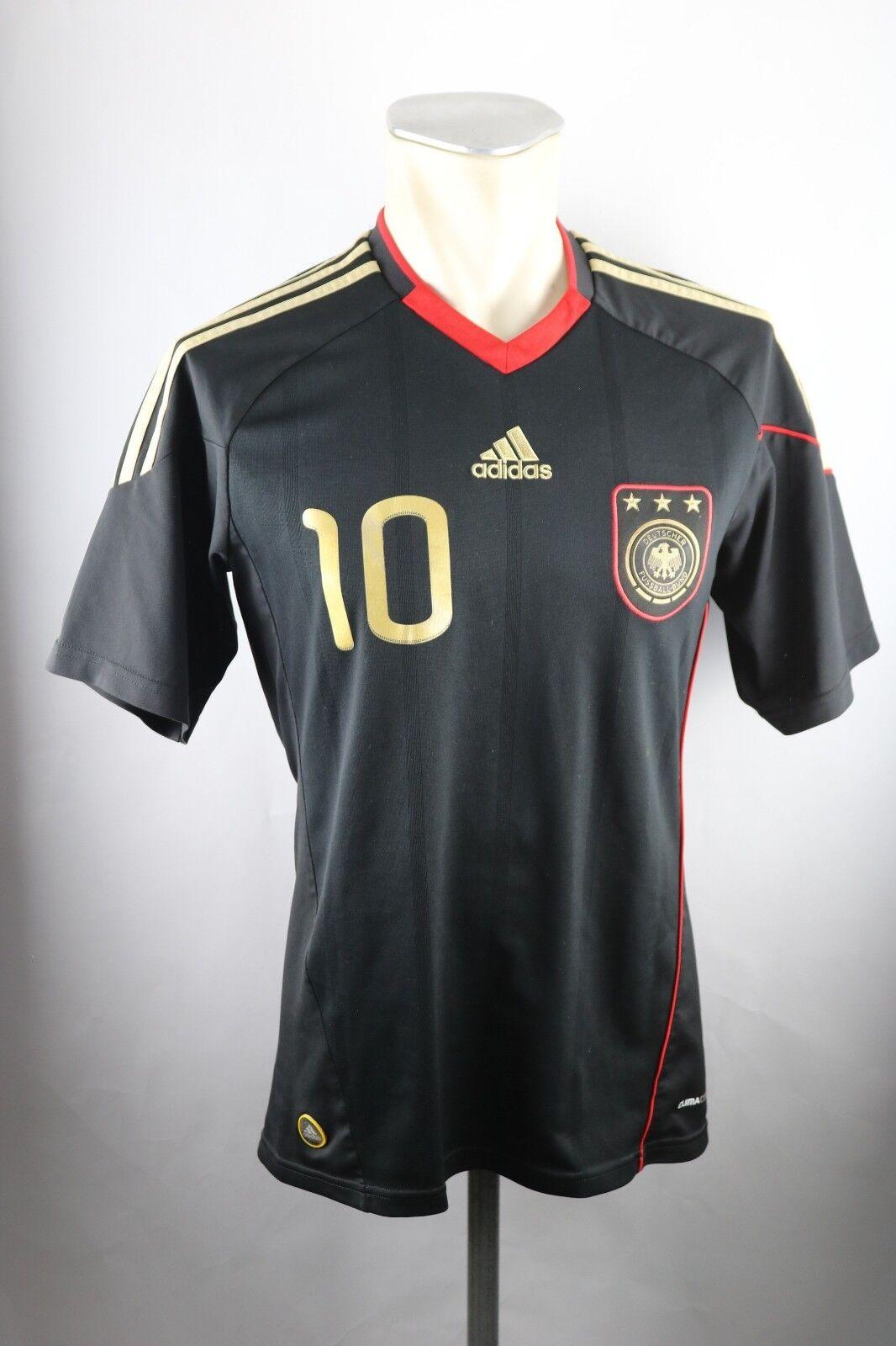 Deutschland DFB Podolski Away Trikot Gr. S Adidas black 2010 WM Shirt