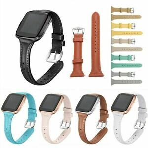 Fashion-T-shaped-Leather-Strap-Steel-Buckle-Wrist-Watch-Band-For-Fitbit-Versa-T