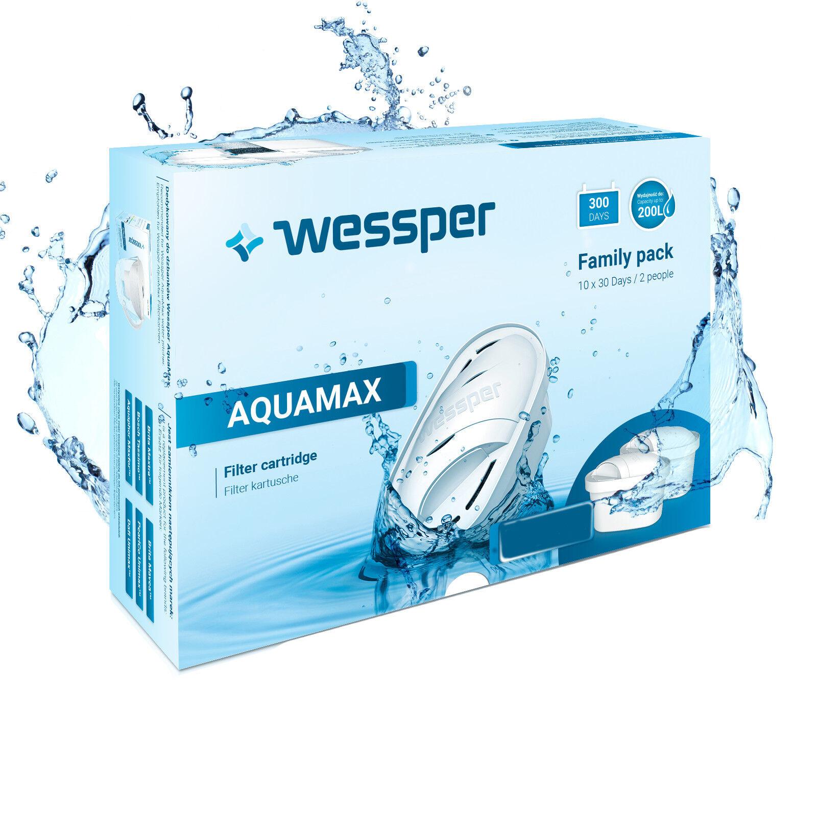 Wessper Aquamax CARTOUCHES de Filtre pour Brita Maxtra, Maxtra Unimax 24