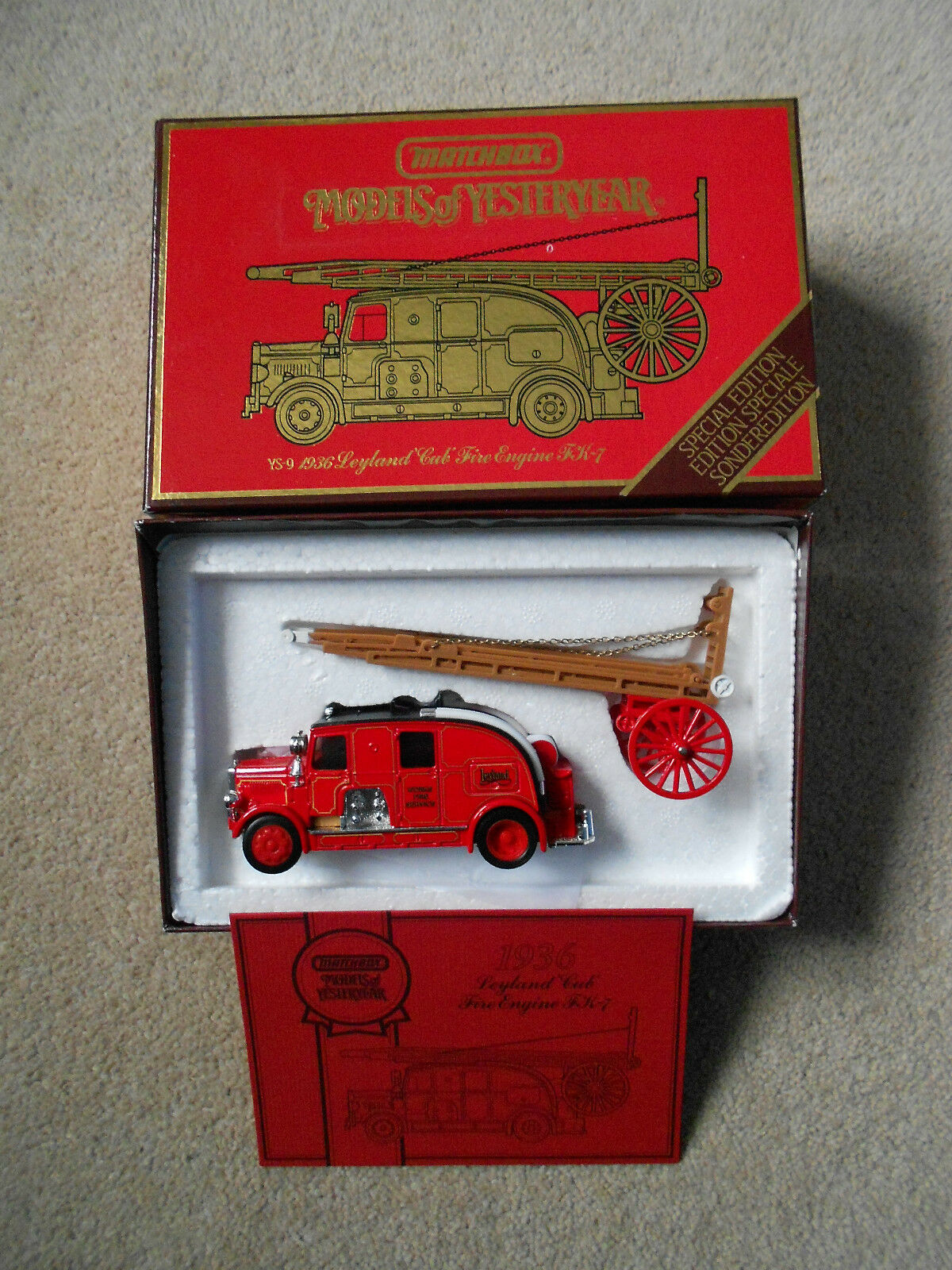MATCHBOX YS-9 1936 Leyland Cub Fire Engine