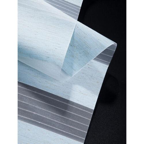 Motorized Zebra Blinds Sheer Roller Shade Waterproof Window Treatment Blue