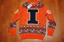 UNIVERSITY OF ILLINOIS UGLY CHRISTMAS SWEATER SMALL S CAMPUS SPECIALTIES NEW NWT