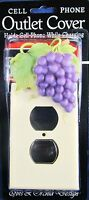 Purple Grape Cell Phone Holder Outlet Cover Hand Painted Home Decor