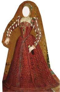 Sc-61 Tudor Woman Stand-in Moyen Âge Selfie H.176cm Présentoir En Carton