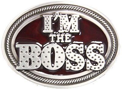 Gürtelschnalle Iam The Boss-chef Rockabilly Buckle Bos-14 Verbraucher Zuerst