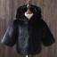 Kids Boys Grils Hooded Luxury faux fur Coat thicken warm Slim Jacket parkas New