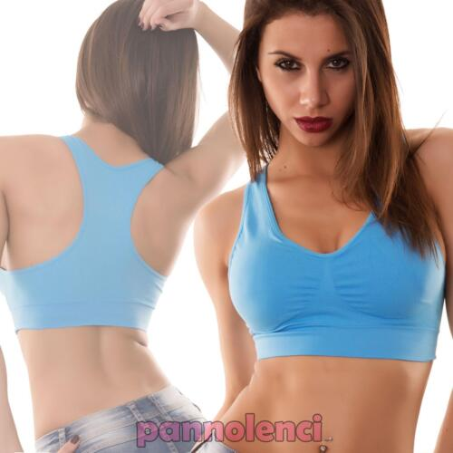 Top donna reggiseno INTIMO fitness vogatore palestra coppe yoga nuovo 04103