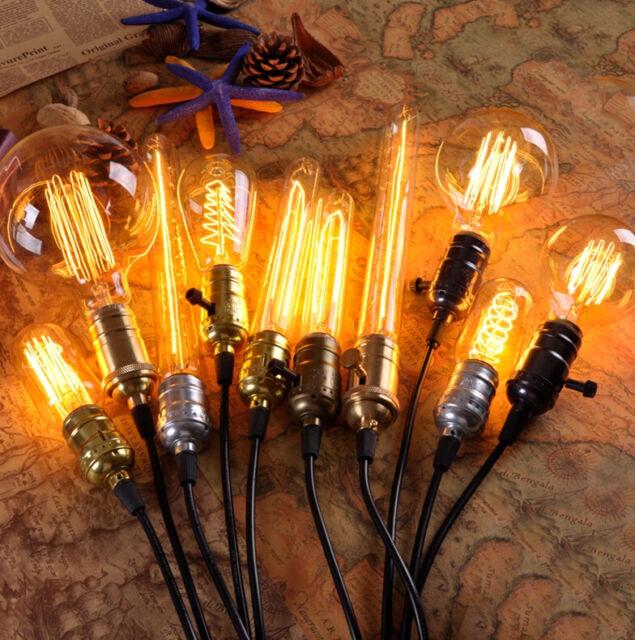 B22 BC E27 E14 Screw ES 60W 40W Tungsten Vintage Style Edison Light Bulb Lamp