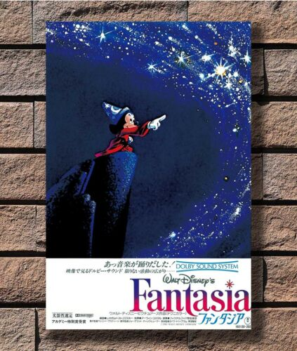 FANTASIA Movie RARE Poster Fabric 12 20x30 24x36 E-1319