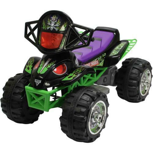 Grave Digger Quad Ride on Toy Car Vehicle Kids Monster Jam ...