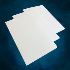 6 x 9 12pt C1S White Presentation Folders quantity 1000