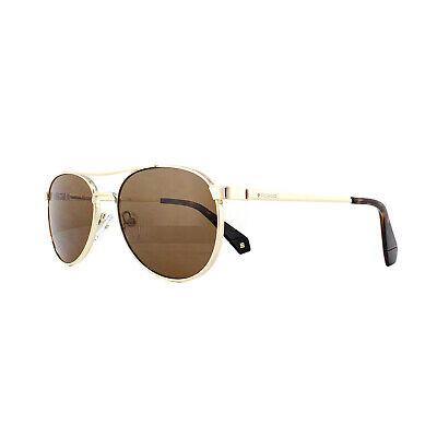 Polaroid Sonnenbrille PLD 2045//S 003 LM Matt Schwarz Grau Gold Verspiegelt Polar