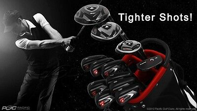 COMPLETE PACKAGE MENS SVG LASER X DARK GOLF CLUB IRONS DRIVER WOODS 4-SW HYBRID