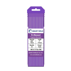 """Purple TIG Welding Tungsten Electrode 1//8/"""" 10 pack, EWG, Comparable with E3"""