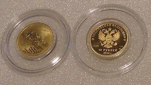 Russia 2014 50 rubles Sochi 2014 Olympic Winter Games UNC 999 Gold Coin - Coventry, United Kingdom - Russia 2014 50 rubles Sochi 2014 Olympic Winter Games UNC 999 Gold Coin - Coventry, United Kingdom