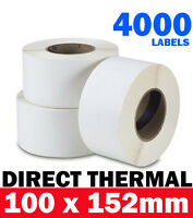 4000 Industrial Direct Thermal Shipping Label 100x150mm 76mm Core Zebra Printer