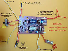 Cfl inverter emergency light circuit kit 6 volt dc emergency light 6 volt dc emergency light circuit plate with low cut solar charging ccuart Choice Image