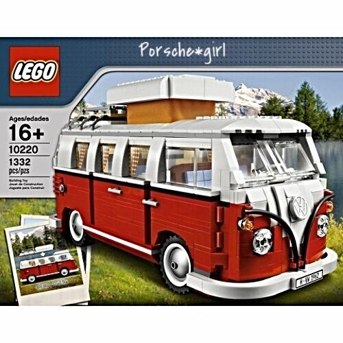Lego Lego Lego Red And White Volkswagen Bus WV 10220 Vintage Style