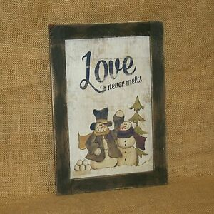 Love-Never-Melts-Snowman-Wall-Picture-Hearthside-Collection