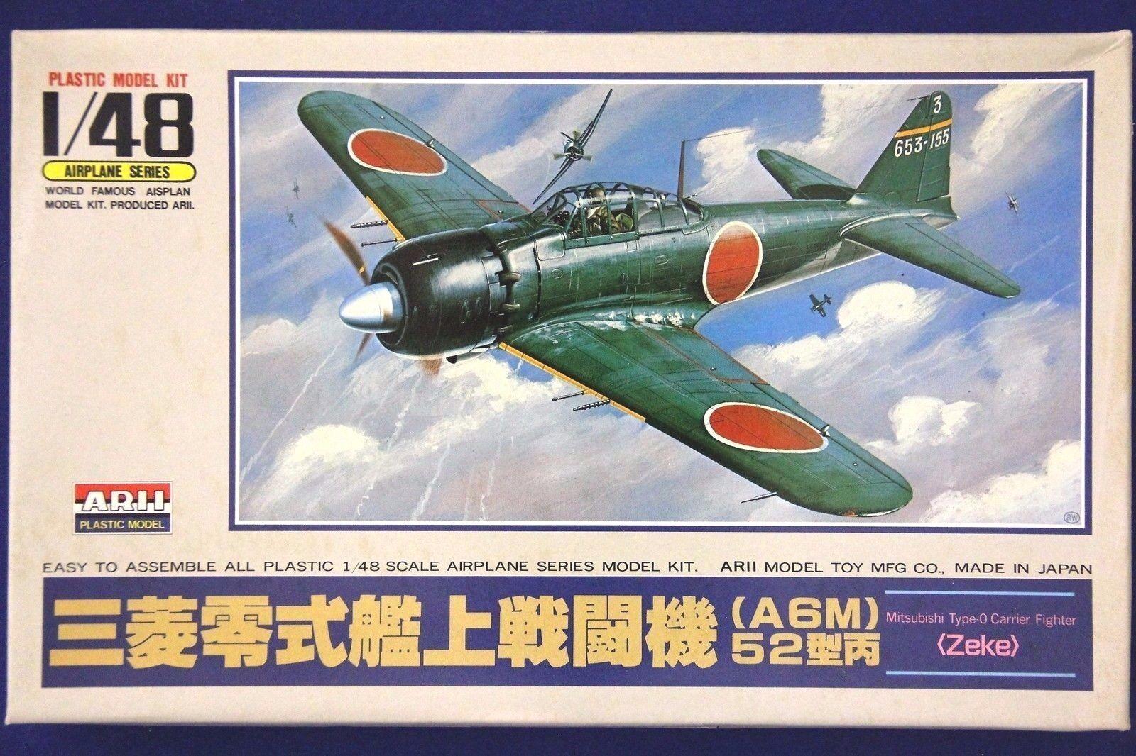 Arii A321 1 48 A6M5 Model 52 Zeke Zero Japanese Fighter