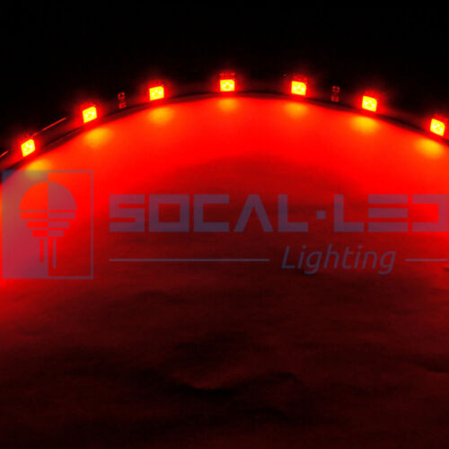 """2x 30cm//12/"""" RED Flexible LED Car DRL Light Strips 12 5050 SMD High Power chip S6"""