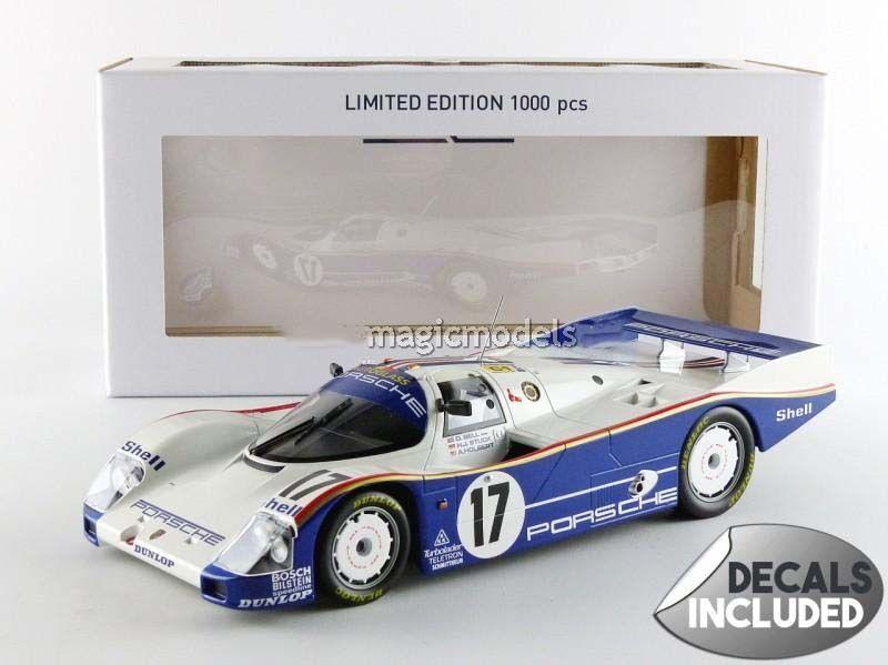 Norev Porsche 962C Vincitore le Mans 1987 Bell / Bloccato/Bloccata  17 1/18 Of