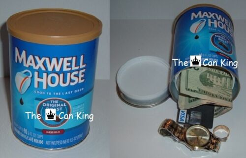 MAXWELL HOUSE COFFEE diversion can safe stash jewelry box PIGGY BANK