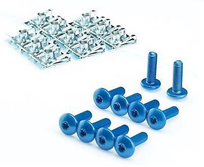 motorrad auto alu schrauben aluminium blau eloxiert aluschrauben klemmen clipse ebay. Black Bedroom Furniture Sets. Home Design Ideas