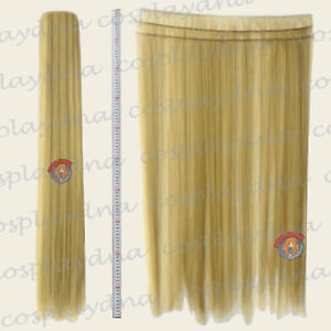 Beige-Blonde-Hair-Weft-Extention-3-pieces-40-034-High-Temp-Cosplay-Wig-8086