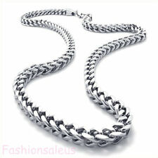 6mm Stainless Steel Silver Tone Mechanic Style Men's Link Chain Necklace 22''