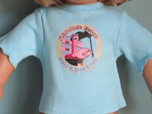 FLAMINGO CLUB Surf & Sun Club Turquoise T-Shirt fits all America