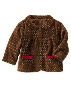Details about gymboree sweet treats brown pindot woven jacket 6 12 24