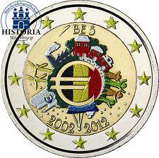 Belgien 2 Euro Gemeinschaftsausgabe 2012 bfr. 10 Jahre Euro Bargeld in Farbe