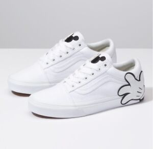 8c7b8e440c69 Vans x Disney Old Skool Mickey Mouse Hand White Kids Youth GS Boys ...