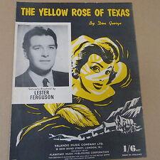 songsheet THE YELLOW ROSE OF TEXAS Lester Ferguson 1955