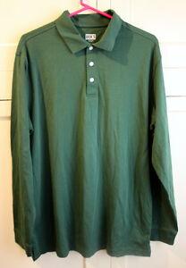 Mens L Dicks Sporting Goods Green Long Sleeve Collard Shirt | eBay