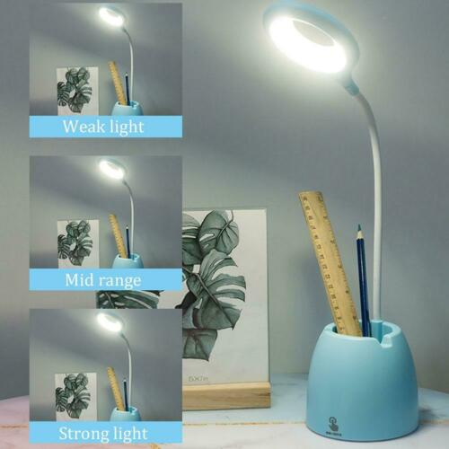 Dimmable LED USB Reading Night Light Flexible Touch Bedside Table Desk Lamp