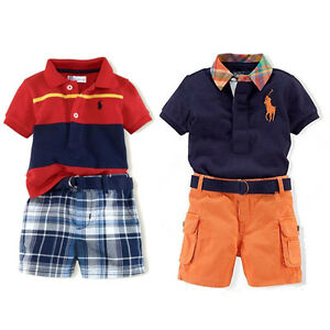 Cool boys polo t shirt open collar short sleeved shorts for Cool polo t shirts