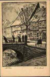 Alt-GOSLAR-1920-Nach-Bleistift-Zeichnung-B-Kron-Kuenstlerkarte-ungelaufen-AK