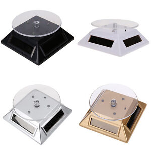Solar-Showcase-360-Turntable-Rotating-Jewelry-Watch-Ring-Display-Stand-LED-Light