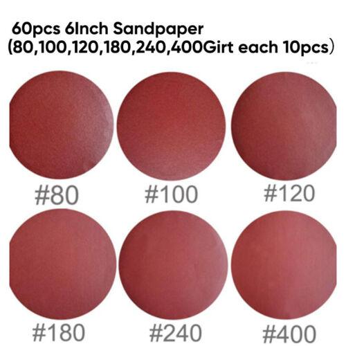 60 Set 15.2cm Selbstklebend Schleifscheibe Sandpapier Rolle PSA Rücken Körnung