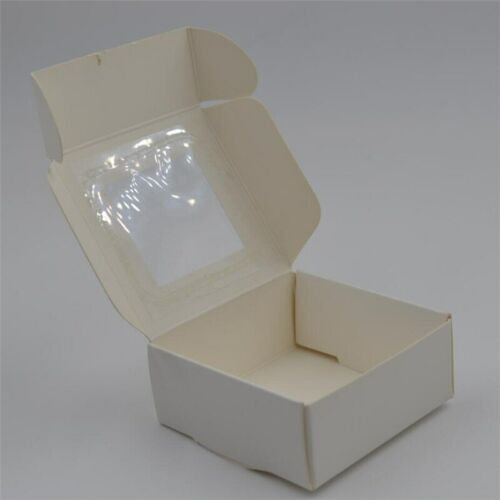 Colorful Kraft Paper Box /& Clear Window Wedding Gift Party Favor Candy Storage