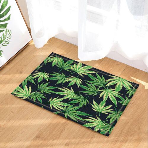 Cannabis Marijuana Feuilles Non-dérapant extérieur intérieur de porte avant tapis de salle