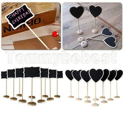 10X Wooden Standing Blackboard Wedding Favor Party Table Decor Message Number