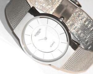 MADISON-N-Y-Slimline-Herren-Armbanduhr-auch-Damen-Sehr-Duenn-Meshband-Quarz