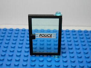 1x Door 1x4x5 Left Trans-Clear Glass /'POLICE/' Pattern 73436c01pb03 Lego